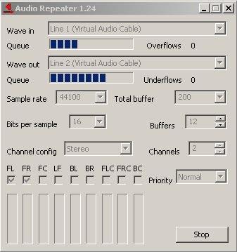 line 1 virtual audio cable не работает