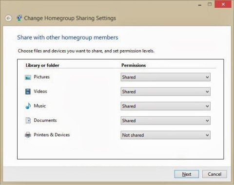 HomeGroup-Share-Settings
