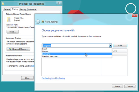 share-folders-windows-8