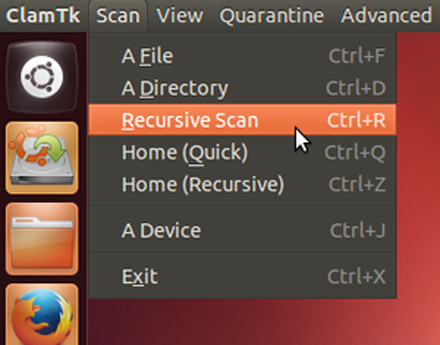 clamav-start-recursive-scan