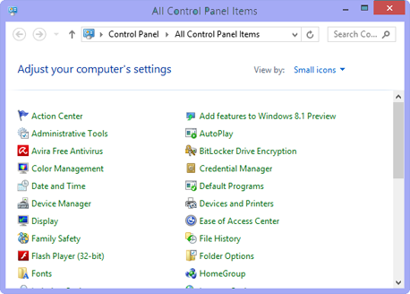 control-panel-windows8