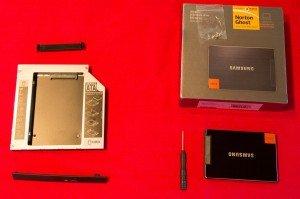 Материалы для установки SSD в ноутбук вместо DVD-привода