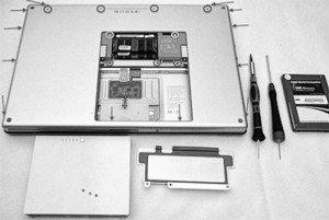 Разбор ноутбука и установка SSD