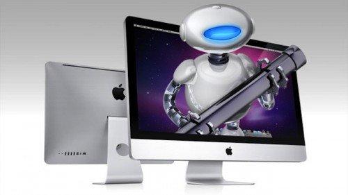 Робот вылазит из экрана