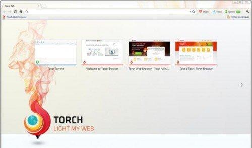 окно браузера Torch