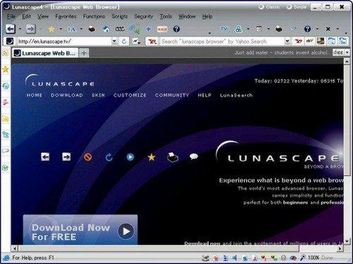 окно браузера Lunascape