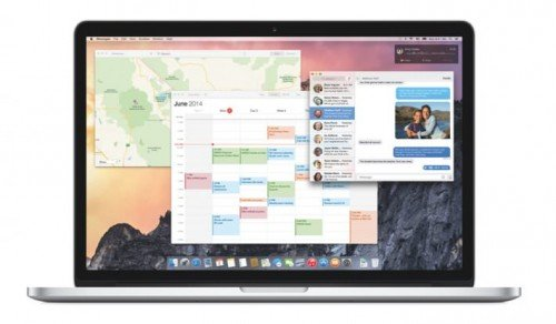 Дизайн Yosemite 10.10 изображен на экране