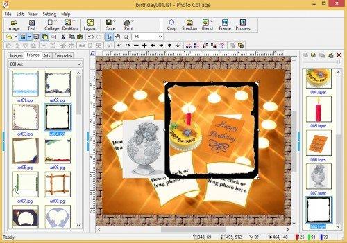 Работа в Photo Collage
