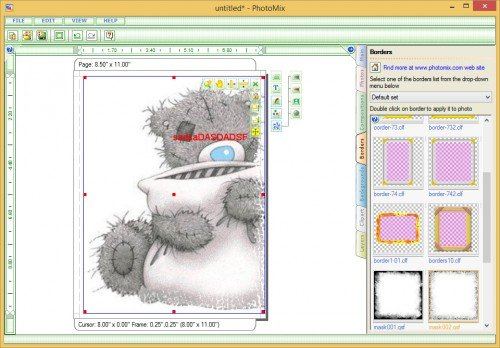 Окно программы PhotoMix Collage