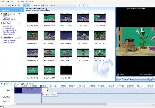 Обрезка фрагмента фильма в Windows Movie Maker