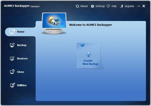 Скриншот страницы AOMEI Backupper Standart