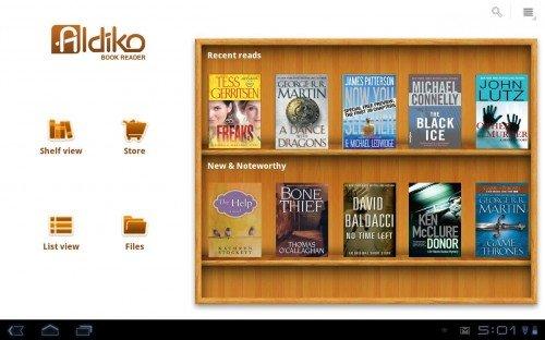 Aldiko Book Reader - программа для чтения книг на планшете
