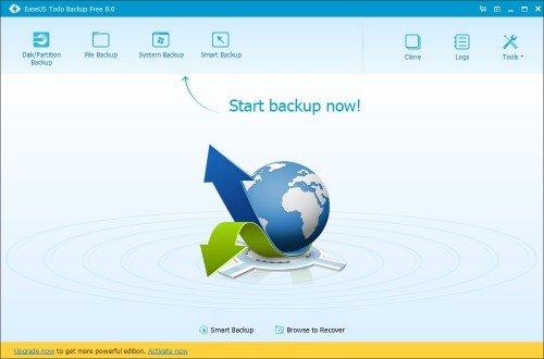 Скриншот страницы Easeus Todo Backup Free