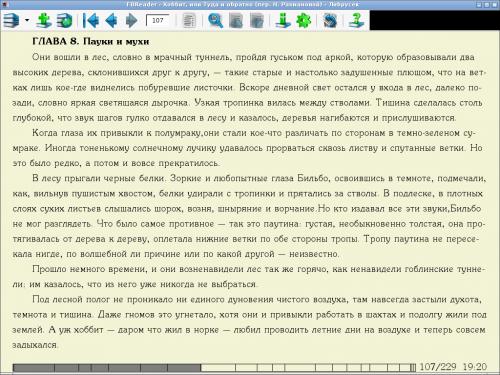 FBReader - программа для чтения книг на планшете
