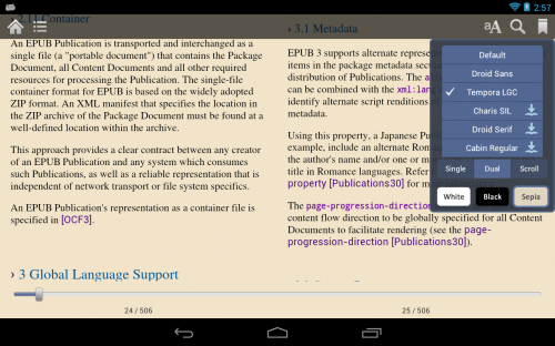Moon+ Reader - программа для чтения книг на планшете
