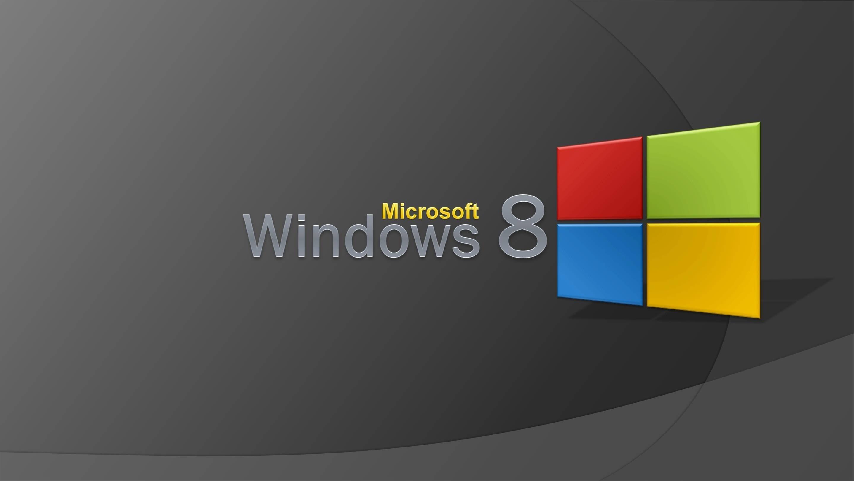 Логотип Windows 8 на рабочем столе компьютера