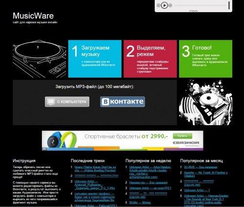 Интерфейс MusicWare