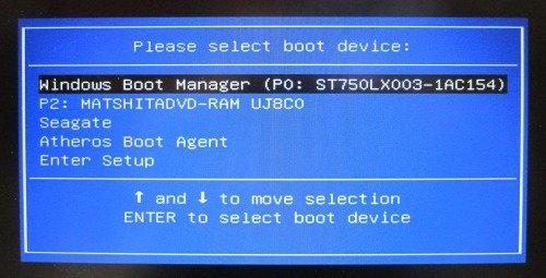 BIOS Выбор загрузочного устройства