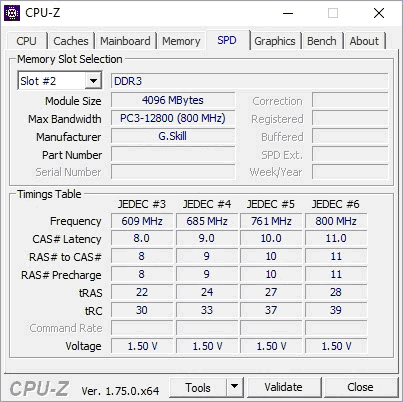 Слот 2 в CPU-Z