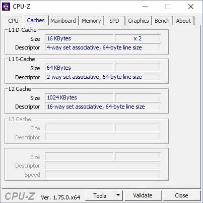 Кэш в CPU-Z