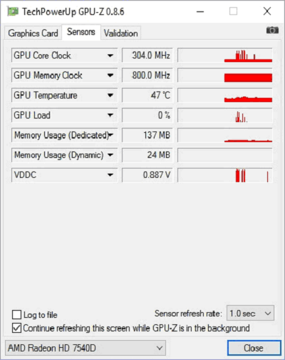 Графики в GPU-Z