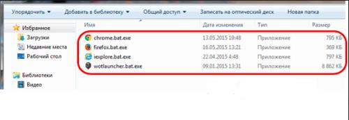 Названия вредоносных файлов