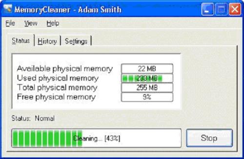 Программа MemoryCleaner