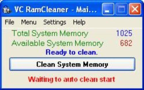 Программа VC RamCleaner