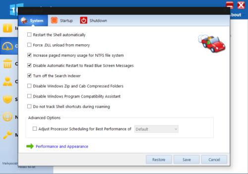 Оптимизация через Windows 10 Manager