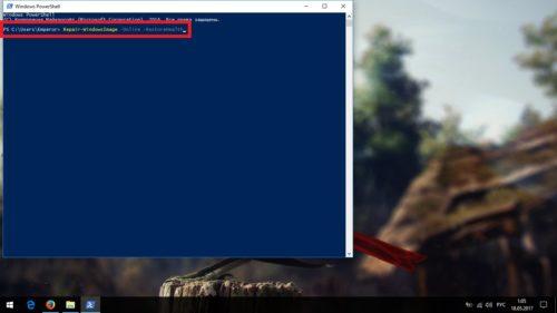 Востановление хранилища через Windows Powershell