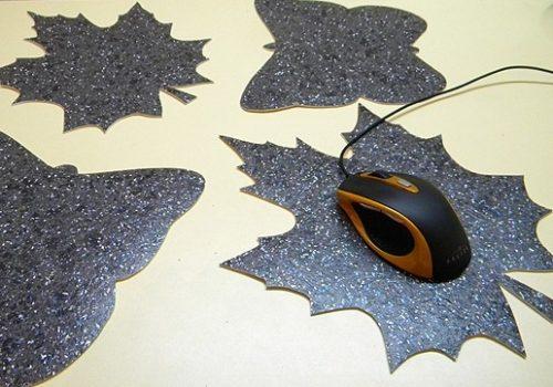 Фигурный коврик из линолеума