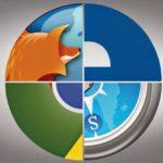 Коллаж из логотипов браузеров