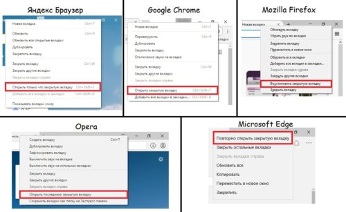 Контекстное меню в разных браузерах
