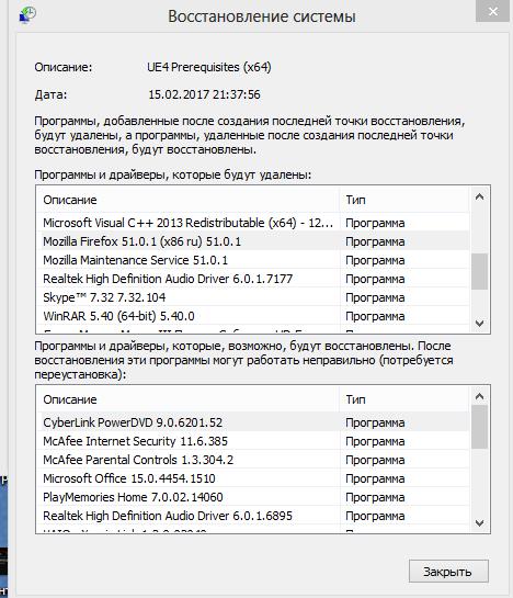 Список затрагиваемых программ