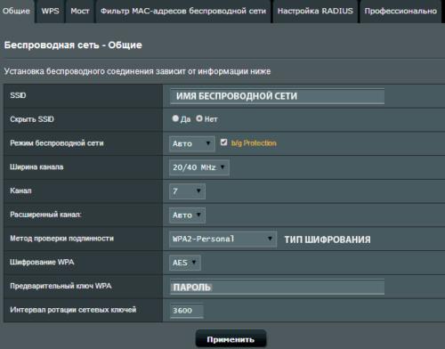 Настройки маршрутизатора Asus RT-n12
