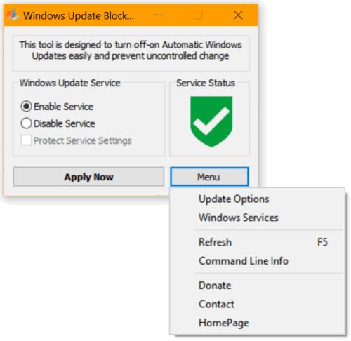 Скриншот рабочего окна Blocker