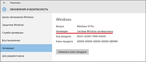 Информация о состоянии Windows