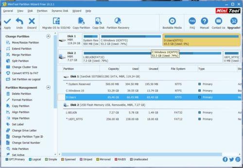Конфигурация HDD
