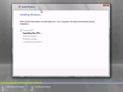 Мастер установки Windows 7