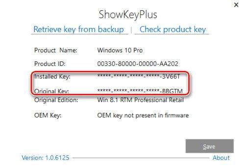 Приложение ShowKeyPlus