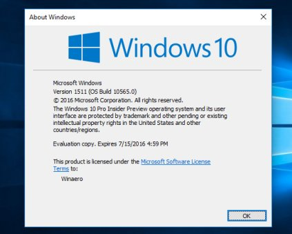 Срок активации Windows 10