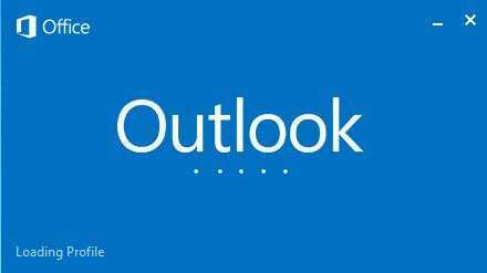 Загрузка профиля Outlook