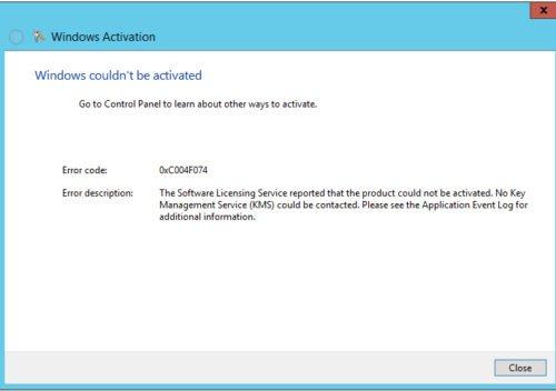 Ошибка активации Windows 10