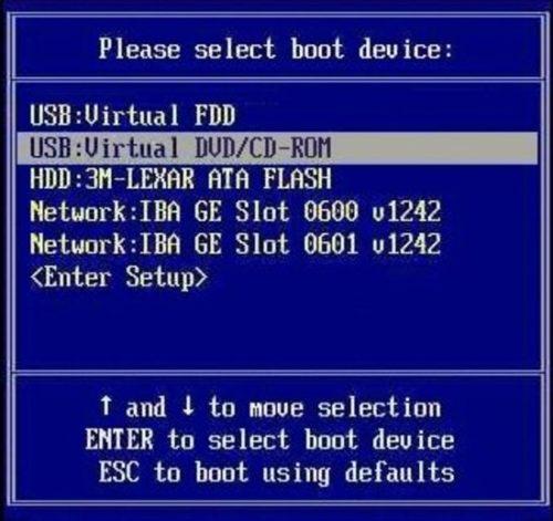 Boot menu в BIOS