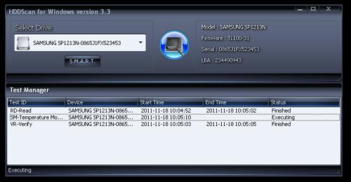 Интерфейс программы HDDScan