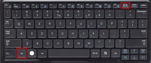 Клавиши Fn и PrintScreen на некоторых моделях клавиатуры