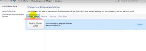 Добавление нового языка в Windows 10