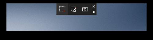 Панель кнопок Microsoft Snip
