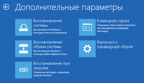 Варианты восстановления работоспоспособности Windows 10
