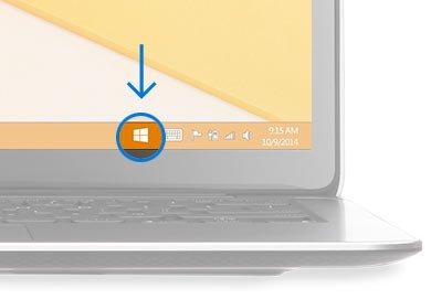 Значок с уведомлением об обновлении ОС до Windows 10